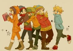South Park Anime All Together Now