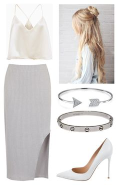 """Untitled #101"" by rikkeandersen1 ❤ liked on Polyvore featuring Gianvito Rossi, Bling Jewelry and Cartier"
