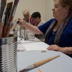 Janice Phillips reaches for a paint brush at the Muscular Dystrophy SA art therapy class What Is Art Therapy, Mental Health Art, Muscular Dystrophies, Medical Art, Coping Skills, Counseling, Social Work, Creative, Depression