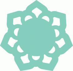 Silhouette Online Store: doily flower