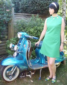 The Carnaby Streak Mod dresses, comes in navy.