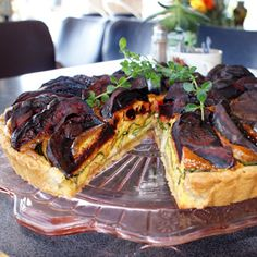 A freshly baked caramelised beetroot & blue cheese tart from our very own Café Frock http://www.annahstretton.co.nz/About+Us/Our+Cafes/Cafe+Frock/About+Cafe+Frock.html  #annahstretton #cafefrock