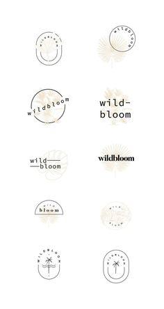 Current project Wildbloom - The binding graphic design & branding studio, . Minimal Logo Design, Graphic Design Branding, Identity Design, Logo Branding, Typography Design, Fashion Typography, 3d Logo, Corporate Branding, Logo Design Studio