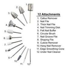 Imagini pentru nail drill bits and their uses | step by step în 2019 ...