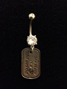 My Hero is a Marine Belly Ring by MilitaryBodyBling on Etsy
