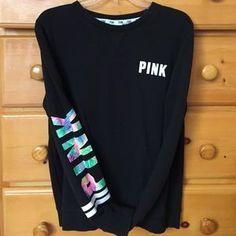 PINK Victoria's Secret Sweaters - VS PINK tropical crewneck ✨