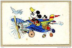 WALT DICNEY - MICKEY - AVIATION / AVION - JOYEUSES PÂQUES - Disney