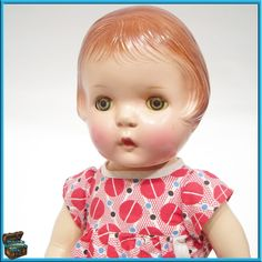 "Beautiful 19"" Petite Sally (Patsy type) doll.  She has a cloth body with composition head/ limbs and clear, blue sleep eyes.  Her face paint is wonderful and the compo is without cracking or crazing.  She has no markings which is normal for this doll."