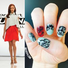 Mojo Spa™ | Fashion Wednesday nails inspired by #helencastillo and her outfit for #projectrunwayallstars #projectrunway #fashion #nailart #nails