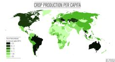 Crop production per capita