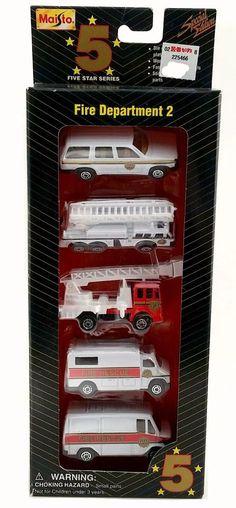 NIB Maisto Five Star Series 1:64 Diecast Fire Department 2 Collection 5 Cars #Maisto