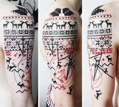 Aga Mlotkowska - norwegian sweater tattoo