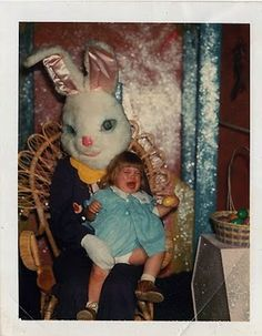Use your egg as a weapon if you must. | 31 Kids Who Just Had Their Lives Ruined By The EasterBunny