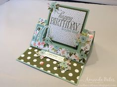 The Craft Spa - Stampin' Up! UK independent demonstrator : Birthday Bouquet Swing Easel Card