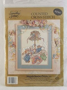 Something Special 50718 Maypole Bunnies Picture Bunny Rabbit Counted CrossStitch #CandamarDesigns #Frame