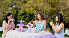 tea party photoshoot for 9fruit jewellery
