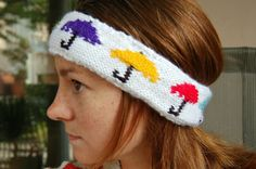 This umbrella headband is really cute. Check out the knit pattern by Full of Beans (and Sausages).
