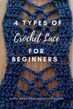 Learn how to make EASY crochet lace! Did you know lace is perfect for beginners? If you can make basic stitches, you can make lace. Visit my blog to find 4 EASY crochet lace patterns anyone can make! #crochet #beginnercrochetpattern #crochetpattern #freecrochetpattern #crochetlace #lacecrochet #crochetforbeginners #pineapplelace #crocheting #freecrochetpatterns #crochetlacepattern #crochetlove #crochetaddict