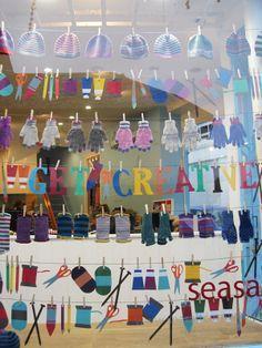 bunting window display - Google Search