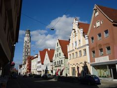 The historical town of Lauingen, Germany.