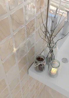 Elegant Bathroom Mosaic. Liam-R Beige 32x99cm.   Revestimiento Pasta Blanca   VIVES Azulejos y Gres S.A. #mosaic #style #tile
