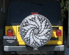 Saw this posted on April 1st by HapiKamper. I thought it was the coolest idea ever! I've been making doily's into afghans for a long time but I never would have thought to make a tire cover. Thank...