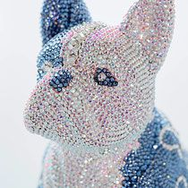 French Bruno by J. Swarovski, French Bulldog, Crochet Hats, Butterfly, Sculpture, Crystals, Art, Bulldog Breeds, Art Sculptures