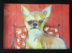 Acuarela, lápices de colores y pastel para dar forma a este chichuahua. Painting, Shape, Mail Boxes, Artworks, Watercolor Painting, Portraits, Pets, Colors, Painting Art