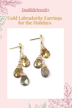 Holiday Jewelry, Jewelry Gifts, Fine Jewelry, Labradorite Jewelry, Gemstone Jewelry, Custom Jewelry, Earrings Handmade, Wedding Jewelry, Dangle Earrings