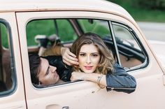 Brittany + Marty's Hollywood VW Bug Engagement : Jana Williams
