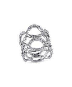 This Diamond & Sterling Silver Wave Ring by Delmar is perfect! #zulilyfinds