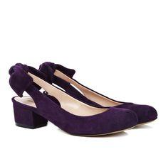 Bow Slingback Shoes.