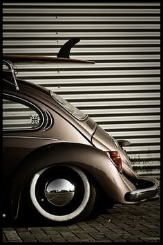 Surf's up!  Starring: Volkswagen Beetle  (by Carlo Vingerling)