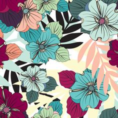 Love the colors. Love floral patterns.