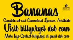 Bananas Personal Use Font · 1001 Fonts