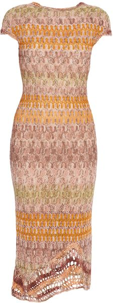 Cap Sleeve Crochet Dress  MISSONI