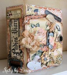 Craft Hoarders Anonymous Challenge by Kathy Clement - amazing A Ladies' Diary album #graphic45