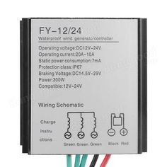 12/24V 300W Turbine Controller Wind Turbine Generator Regulator Sale - Banggood.com