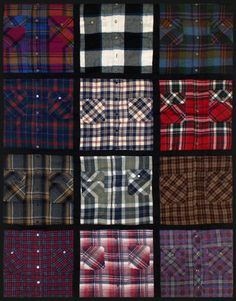 Shirt Quilt - reminds me of my dad's shirts! Wish I had them so I could make one of these to wrap up in on cold days or days I am missing him. Love ya dad!