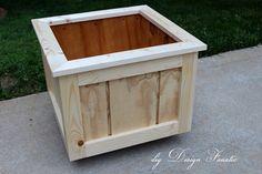 diy Design Fanatic: How To Make A Wood Planter Box  http://diydesignfanatic.blogspot.com/2013/05/how-to-make-wood-planter-box.html