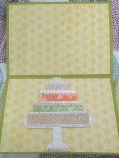 Birthday cake inside card