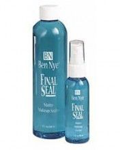 Ben Nye Final Seal Matte Sealer  (North America Only) This is what the Disney Princesses use to set their makeup after applying. Even if you sweat, hug, or rub, your makeup will stay in place and your face wont be shiny. You cant see or feel it either once its dried, but this stuff is legit! If its good enough for Cinderella, I guess its good enough for me