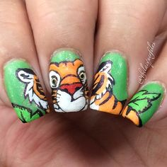 "Nail Art Inspired by Raja From Disney's ""Aladdin"""