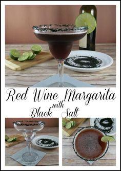 Red Wine Margarita with Black Salt!    Halloween, Halloween beverages, party, drinks, recipes, treats http://www.myturnforus.com/2016/10/red-wine-margarita-with-black-salt.html