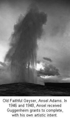 Old Faithful Geyser by Ansel Adams