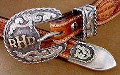 Beautiful buckle set.