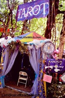 Tarot Reader , Psychic's tent shade for reading at psychic fairs or renaissance fairs.