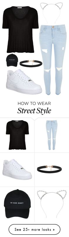 """""""Ariana Grande Street Style"""" by stacianoel on Polyvore featuring River Island, T By Alexander Wang, NIKE and Lipsy"""