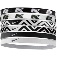 Nike Printed Headbands Assorted 6pk ($14) ❤ liked on Polyvore featuring accessories, hair accessories, head wrap hair accessories, nike, nike headband, sports headbands and hair bands accessories