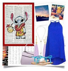 """""""Stitch on Vacation"""" by forever-inspired ❤ liked on Polyvore"""